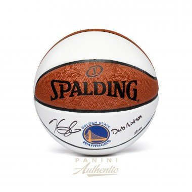 KEVIN DURANT Autographed Golden State Warriors White Panel Basketball with