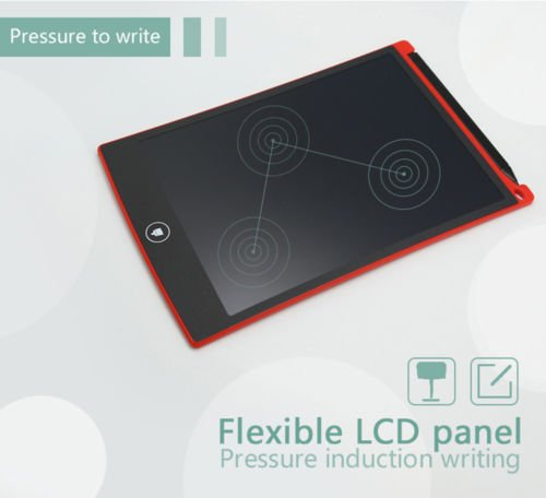 8.5''LCD Writing Board, Portable Paperless Rewritten Digital Graphics Tablet Pad Notepad for Drawing,Note,Memo,Remind,Message,Draft,Scrawl (Red) by Genuiskids (Image #6)