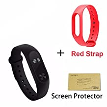 Cool Waterproof Xiaomi Fitness Smartband - OLED Touch Screen Activity Health Tracker | Smart Bracelet Heart Rate Monitor For iOS & Android Red - Epiktec