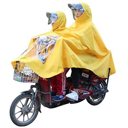 GaoFan Madre e Hijo, niños, Padre e Hijo, Doble, Impermeable para el niño, Bicicleta eléctrica, Carro de la Motocicleta,...