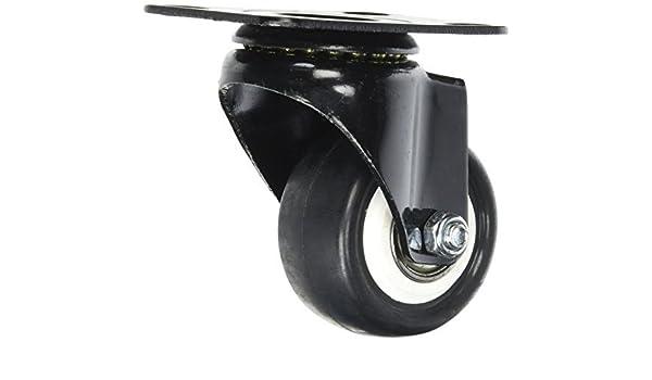 eDealMax 1, 9 pulgadas bastidor de la carretilla Individual de las ruedas giratorias Con placa Superior: Amazon.com: Industrial & Scientific