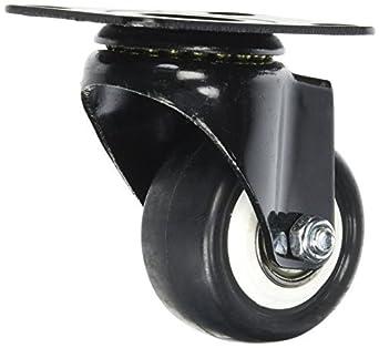eDealMax 1,9 pulgadas bastidor de la carretilla Individual de las ruedas giratorias Con placa