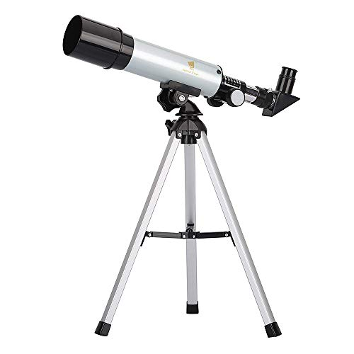 GEERTOP 90X Portable Astronomical Refractor Tabletop Telescope, 360X50mm, for Kids Sky Star Gazing & Birds Watching