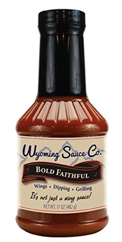 - Wyoming Sauce Co Premium Bold Faithful Buffalo Style Wing Sauce 16 Ounce, Excellent for Chicken Wings, Dippping, Grilling, Unique Gourmet Marinades Sauces Barbecue, Bottle