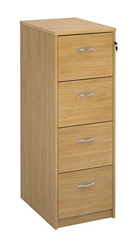 Merveilleux Deluxe 4 Drawer Wood Filing Cabinet In Beech, Maple, Oak, White Or Walnut