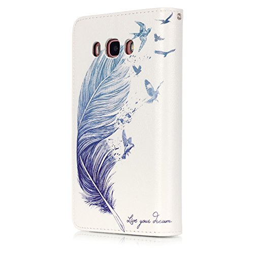 Sunroyal® Estilo libro Samsung Galaxy J5 (2016 ) Funda Case PU Cover Carcasa Accesorios Set, Premium Luxury Alta Calidad Flip Leather Telefono Plegable Caja de la Carpeta Bolsa de Moda Cubierta Fina d A-08