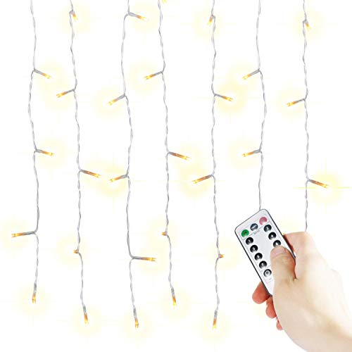 Icicle Christmas Light Set with Remote and Timer