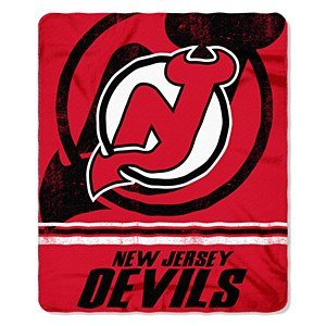 NHL New Jersey Devils Fade Away Printed Fleece Throw, 50