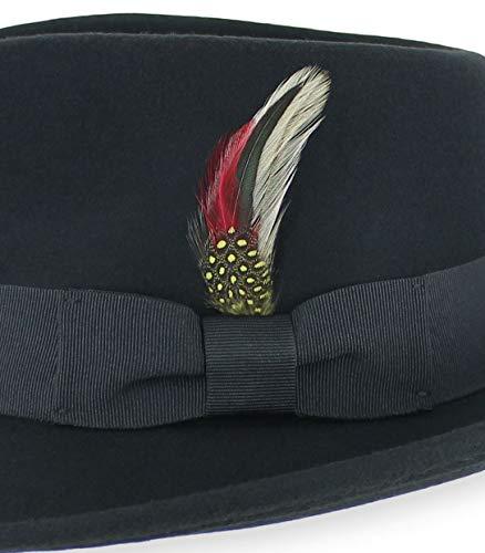 ef6b46124b6 Belfry Gangster 100% Wool Stain Resistant Crushable Dress Fedora in Black  Grey Navy Brown Pecan