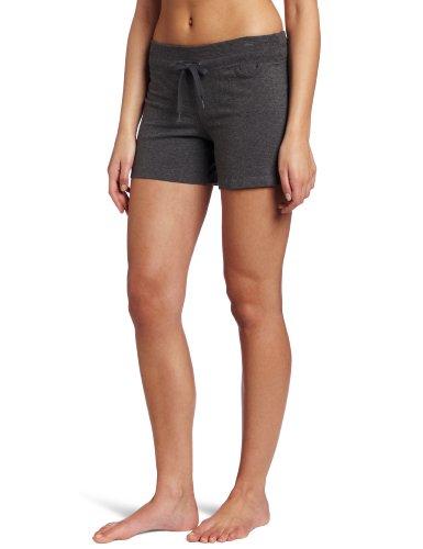 Danskin Women's Drawcord Short, Charcoal Heather, 2X