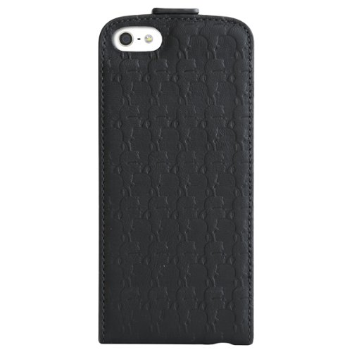 CG Mobile Karl Lagerfeld Kameo Collection Pure Leather Hard Case with Flap for iPhone 5s/5 Kameo Black