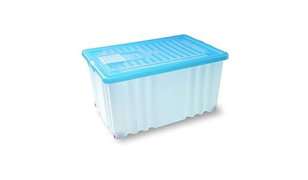Dem Caja plástico Funny 60 x 40 x 30 con Tapa Colores Surtidos ...
