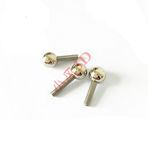 WillBest 12pcs M4 Threaded Steel Ball Rod Ends for Kossel 3D Printer Magnetic Joints by WillBest