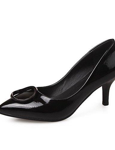 GGX/ Damen-High Heels-Lässig-Lackleder-Stöckelabsatz-Absätze / Spitzschuh / Geschlossene Zehe-Schwarz / Rot black-us6.5-7 / eu37 / uk4.5-5 / cn37