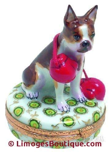 Boston Terrier - French Limoges Boxes - Porcelain Figurines Collectible Gifts