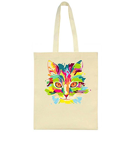 Art Colorful Bag Awesome Awesome Pop Portrait Colorful Tote Cat qwaOx1IT