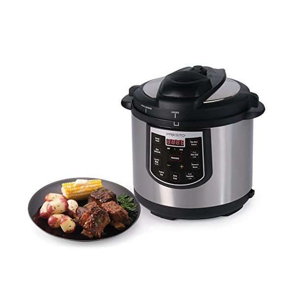 Presto 02141 6-Quart Electric Pressure Cooker, Black, Silver 4