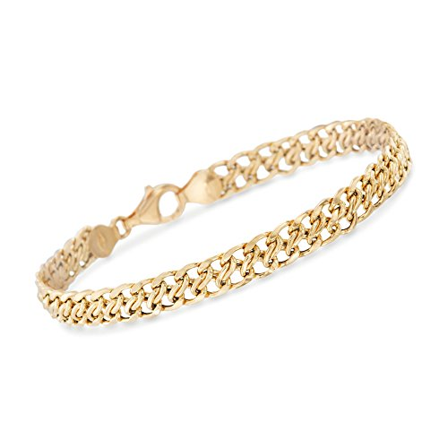 Ross-Simons Certified Italian 18kt Yellow Gold Flat-Link Chain Bracelet ()