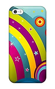 Snap-on Case Designed For Iphone 5c- Happy Rainbow (3D PC Soft Case)