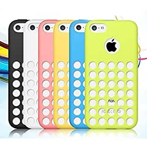 YULIN Solid Color Silicone Case with Holes in the Back for iPhone 5C (Assorted color) , Pink