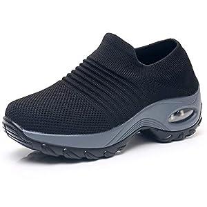 Women's Walking Shoes Sock Sneakers – Mesh Slip On Air Cushion Lady Girls Modern Jazz Dance Easy Shoes Platform Loafers