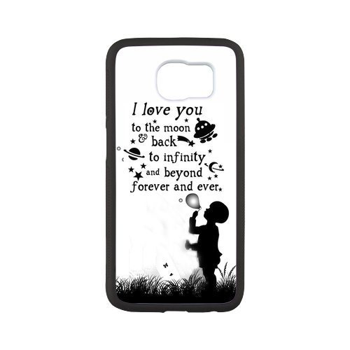 Generic Love Quote I Love You To The Moon And Back Phone Case for SamSung Galaxy S7 Edge