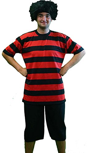 Halloween-Fancy Dress-Stage-World Book Day DENNIS THE MENACE COSTUME & WIG - One Size Only. 2018