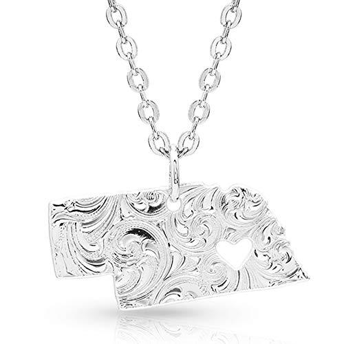 - Montana Silversmiths I Heart Nebraska State Charm Necklace