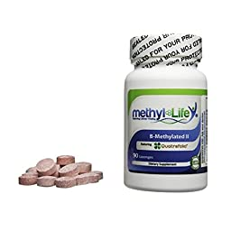 B-Methylated II - 3 mg of Methylfolate or L-5-MTHF (as 6 mg Quatrefolic®) & B-12 (as Methylcobalamin - 3.75 mg) - 90 Sublingual Tablets