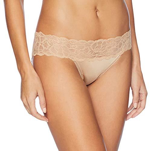 Calvin Klein Women's Seductive Comfort Bikini Panty, Bare, -