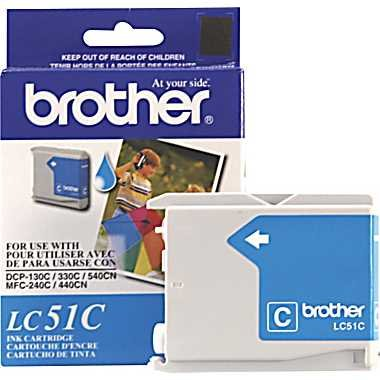 Genuine NEW Brother LC51C Cyan Ink Cartridge - Brother Lc51c Printer Cartridge