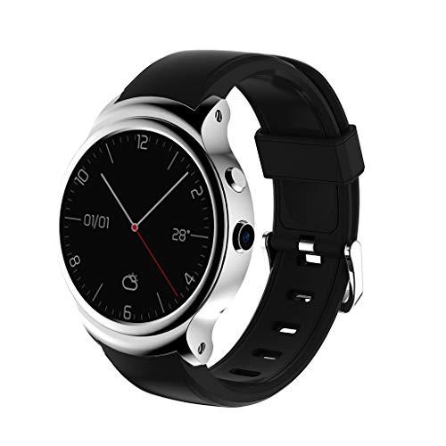 (Larmly Smart Watch I3 Smart Watch 1.5 Inch MTK6580A Quad Core 1.3GHZ Android 5.1 3G Smartwatch 500mAh 2.0 Mega Pixel Camera Wrist Watch(Silver) )