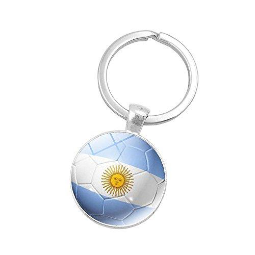 2018 Russia World Cup Flag Key Chain Soccer Football Team Keys Ring (Argentina)