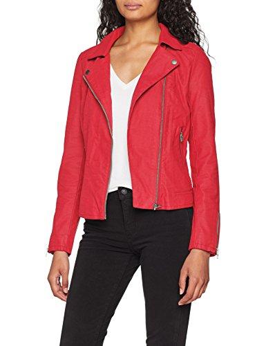 Pink Onlsaga Femme Rose OTW Faux Leather CC Biker Only Pink Virtual Virtual Blouson Awpvdqq