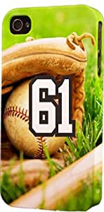 Baseball Sports Fan Player Number 61 Plastic Snap On Flexible Decorative Apple iPhone 4/4s Case by ruishername
