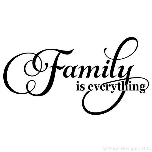 Family is Everything Vinyl Wall Decal Sticker Art