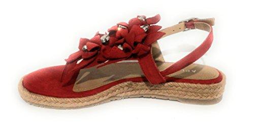 Para ROSSO Rojo Sandalias CORDA Mujer 35 Rojo Apepazza EU 5fFwxUSw