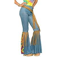 Traje de campana con traje de hippie para mujer de Forum Novelties, azul /marrón, medio /grande