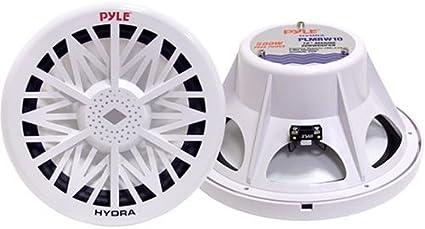 NEW Pyle PLMRW10 10 500 Watt 4 Ohm Marine Subwoofer 2 Pack White