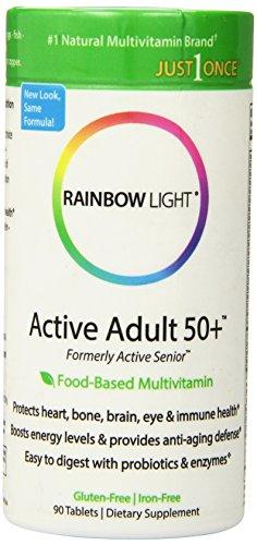 Arco iris adulto activo luz 50 + multivitamínico, 90 tabletas