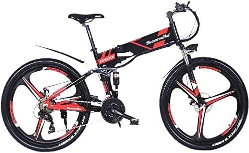 XXCY Bicicleta de montaña eléctrica Plegable Bicicleta de montaña para Hombre MTB M80 10.2Ah Batería de Iones de Litio 5 Niveles Pas Velocidad Alta función Velocímetro Doble Susepensión: Amazon.es: Deportes y aire