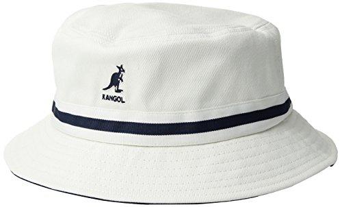 (Kangol Men's Stripe Lahinch, White, Medium)