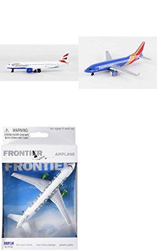 Daron British Airways, Southwest, Frontier Airlines Diecast Airplane Package - Three 5.5
