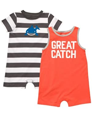 Carter's 2-pk. Shark Rompers - Baby!