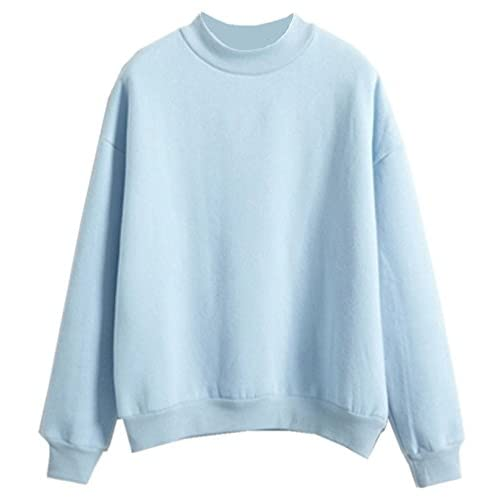 Discount Fashiononly Teen Girls Korean Solid Candy Pullover Sweater Pastel Hoodie Cool Kawaii Shirt for sale