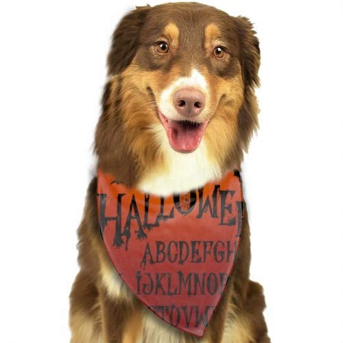 Rongx Dog Bandanas Washable and Reversible Triangle Cotton Puppy Bibs Scarf Halloween Splash Alphabet Assortment for Small and Medium Pet ()
