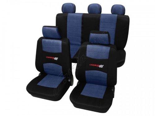 Housses pour sièges de voitures auto, Kit complet, Renault R5, bleu noir