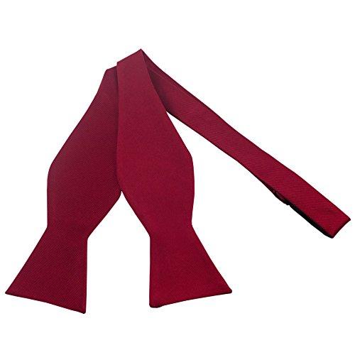 100% Silk Red Self Tie Bow Tie by John William