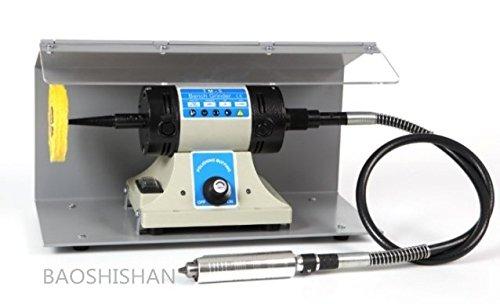 BAOSHISHAN TM-5F2 110V/220V 小型バフモーター 防塵フード セット バフベンチグラインダー ポリッシャー フレックスシャフト付 金属の研削 研磨 バリ取り (ホスト+シャフト+防塵フード+布バフ) (110V) B07BFR2G2Q110V