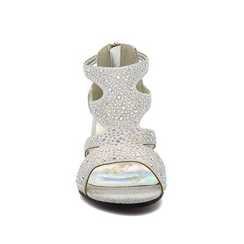 femme Bride de cheville London silver Footwear w6gYSS